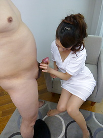 Rei Mizuna - Hot Japanese blowjob with sexy Rei Mizuna  - Picture 6