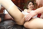 Two Dicks To Cream Kanade Otowa's MILF Pussy Photo 9