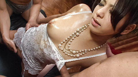 Kanade Otowa - Kanade Otowa in lace has dicks in holes - Picture 8