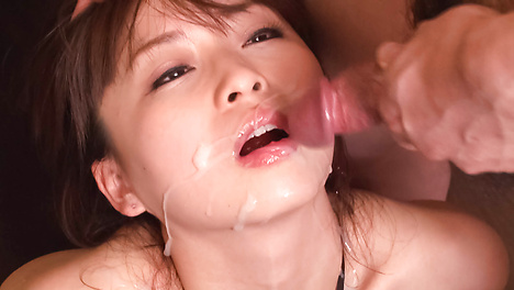 Naughty babe gagging and stroking hard shafts