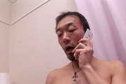 Wife gets hard inches to crack down her hairy Asian pussy Photo 1