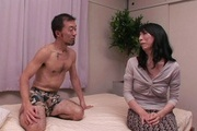 Wife gets hard inches to crack down her hairy Asian pussy Photo 5