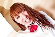 Schoolgirl Sakura Anna's Hairy Pussy Creamed In Uniform Photo 1