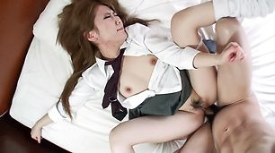 Asian amateur girl receives serious pleasure on cam