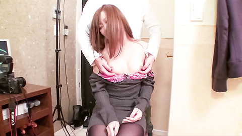 Nana Kawase - Sweet Nana Kawase rubs nooky and sucks woody - Picture 5