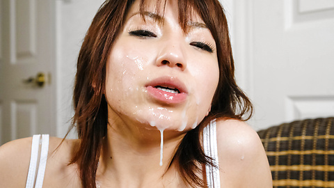 Airi Nakajima Earns A Messy Facial From A Blowjob