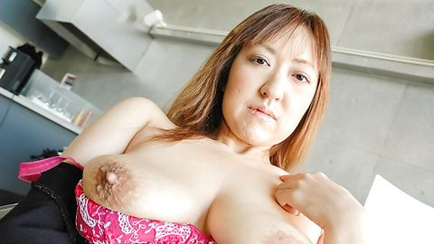 Mayumi - Big MILF naturals on Mayumi bounce during sex after giving an asian blow job - Picture 11