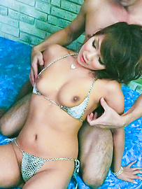 Akiho Nishimura - Skiho Nishimura fucked and jizzed in her hairy pussy - Picture 7