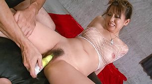 Asuka's Hairy MILF Pussy Vibrated As She Gets A Facial