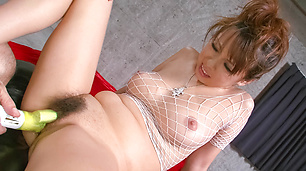 Sexy and hot fuck babe Asuka getting her hairy pussy fondled and fucked