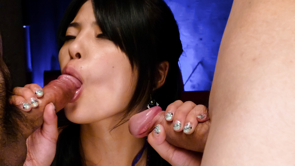 Eririka Katagiri giving top asian blowjob to a tasty dick