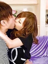 Megu Kamijo - Gadis-gadis Jepang busty meniup pekerjaan dan kontol naik - gambar 3