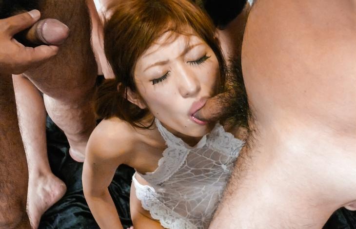 Tons of vibrators and facials for Meri Kanami after asian blowjobs japanese tits, asian woman, japanese women