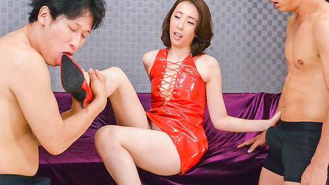希咲あや - ドSなお嬢様希咲あや~ご奉仕フェラ - Picture 1