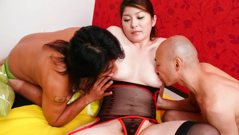 Busty Mirai Haneda Has A Threesome With Anal Sex
