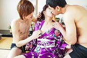 Japanese milf fucked by two younger studs  Photo 3