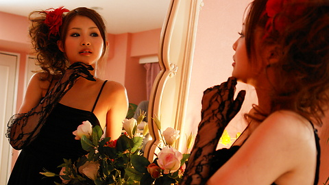 Suzuka Ishikawa - Suzuka Ishikawa in a hot dress gets threesome hardcore fucking - Picture 1