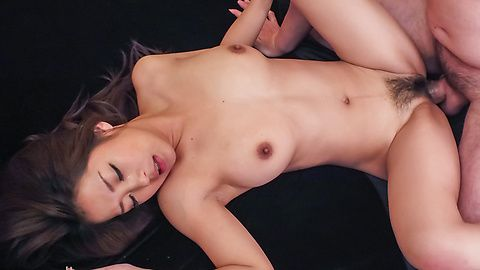 Young Satomi Suzuki bends over for a tasty cock