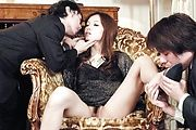 Mei Haruka pretty and petite handles two cocks Photo 2