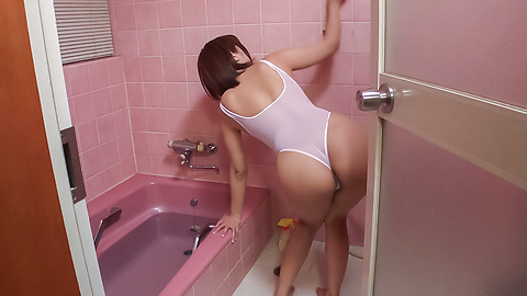 Saya Tachibana - Appealing wife provides Japan blow job in the bath tub  - Picture 2