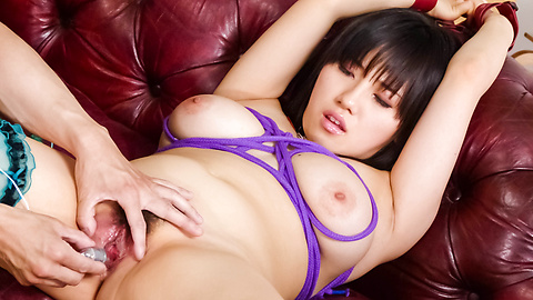 Azusa Nagasawa - Black-haired Asian Azusa Nagasawa toy fucked and spunk in her mouth - Picture 10