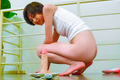 Akina Hara has japanese amateur sex with a dildo