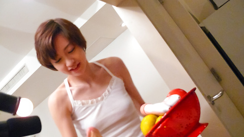 Akina Hara - Akina Hara has japanese amateur sex with a dildo - Picture 4
