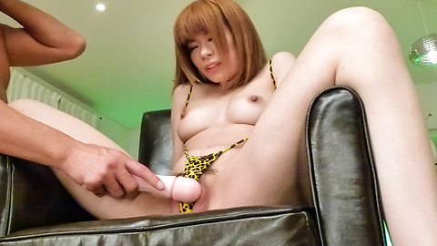 Junna Hara - Junna Hara fucked with an asian dildo and gets a facial - Picture 9