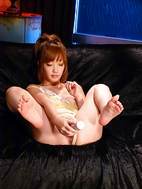 Sana Anzyu - A big asian dildo has the sexy Sana Anzyu cumming - Picture 7