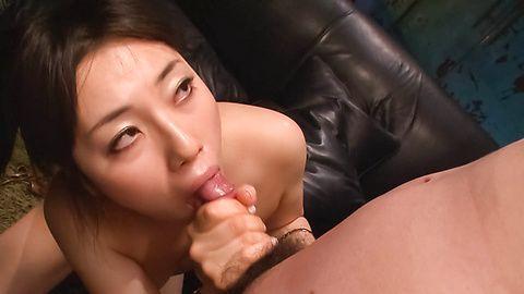 Busty Azusa Nagasawa Oiled Up And Ready To Suck