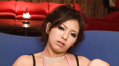Kanade Otowa - Tight and horny babe pussy fondled with dildo - Picture 1