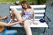 MILF Aika Gets Her Pussy Drilled Outdoors Photo 11