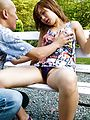 MILF Aika gives a blowjob and has japanese outdoor sex Photo 3
