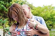 MILF Aika Gets Her Pussy Drilled Outdoors Photo 4