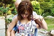 MILF Aika gives a blowjob and has japanese outdoor sex Photo 5