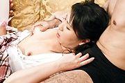 A Threesome Creampie For Emiri Takeuchi In White Stockings Photo 9