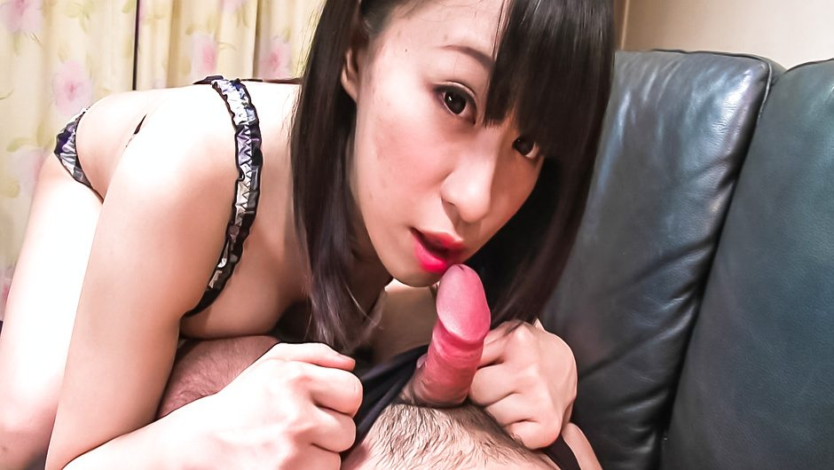 Stunning POV blowjob by brunette Yui Kyouno