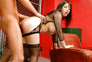 Busty Azusa Nagasawa In Stockings Is Creamed