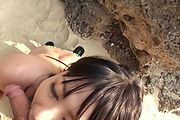 Naughty Teen Megumi Haruka Gives Great Head At The Beach Photo 12
