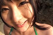 Naughty Teen Megumi Haruka Gives Great Head At The Beach Photo 5