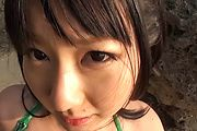 Naughty Teen Megumi Haruka Gives Great Head At The Beach Photo 6