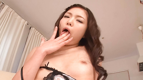 Megumi Shino - Megumi Shino gets an asian cum face while masturbating - Picture 4