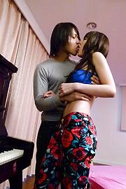 Megumi Shino - Horny teen Megumi Shino gives an asian blowjob and takes a fucking - Picture 3