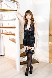 Nao - Nao and Yuria posing in sexy black stockings! - Picture 1