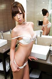 Anri Hoshizaki - วัยรุ่นนริขี้ขลาดลูบด้วยเครื่องสั่นที่มีประสิทธิภาพ -  10 รูปภาพ