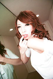 Aya Sakuraba - สวยงาม Babe Aya ให้ blowjob handjob และเหลวไหล -  10 รูปภาพ