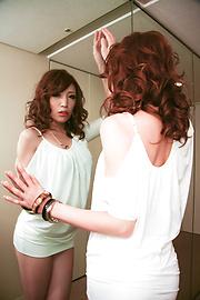 Aya Sakuraba - สวยงาม Babe Aya ให้ blowjob handjob และเหลวไหล -  12 รูปภาพ