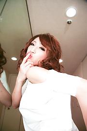 Aya Sakuraba - สวยงาม Babe Aya ให้ blowjob handjob และเหลวไหล -  8 รูปภาพ