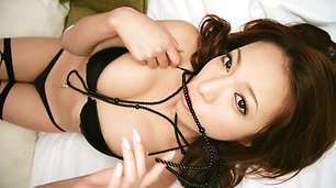 Charming Japanese milf fucked from behind and jizzed in her face